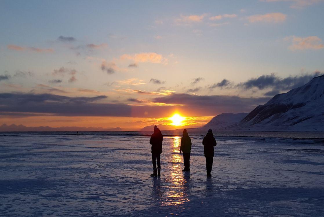 Longyearbyen - Sonnenuntergang-/aufgang