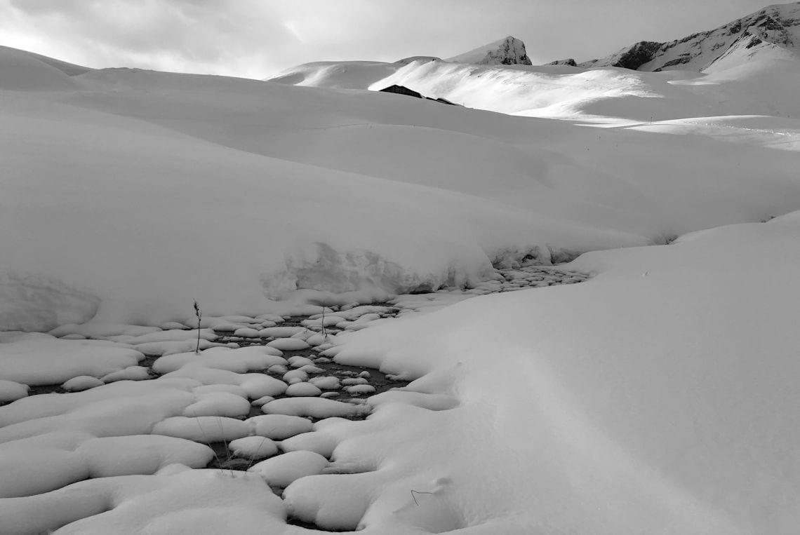 Noch liegt wenig Schnee im Rosenlaui