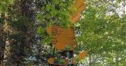 Wegweiser auf der Tour von Mosnang aufs Schnebelhorn