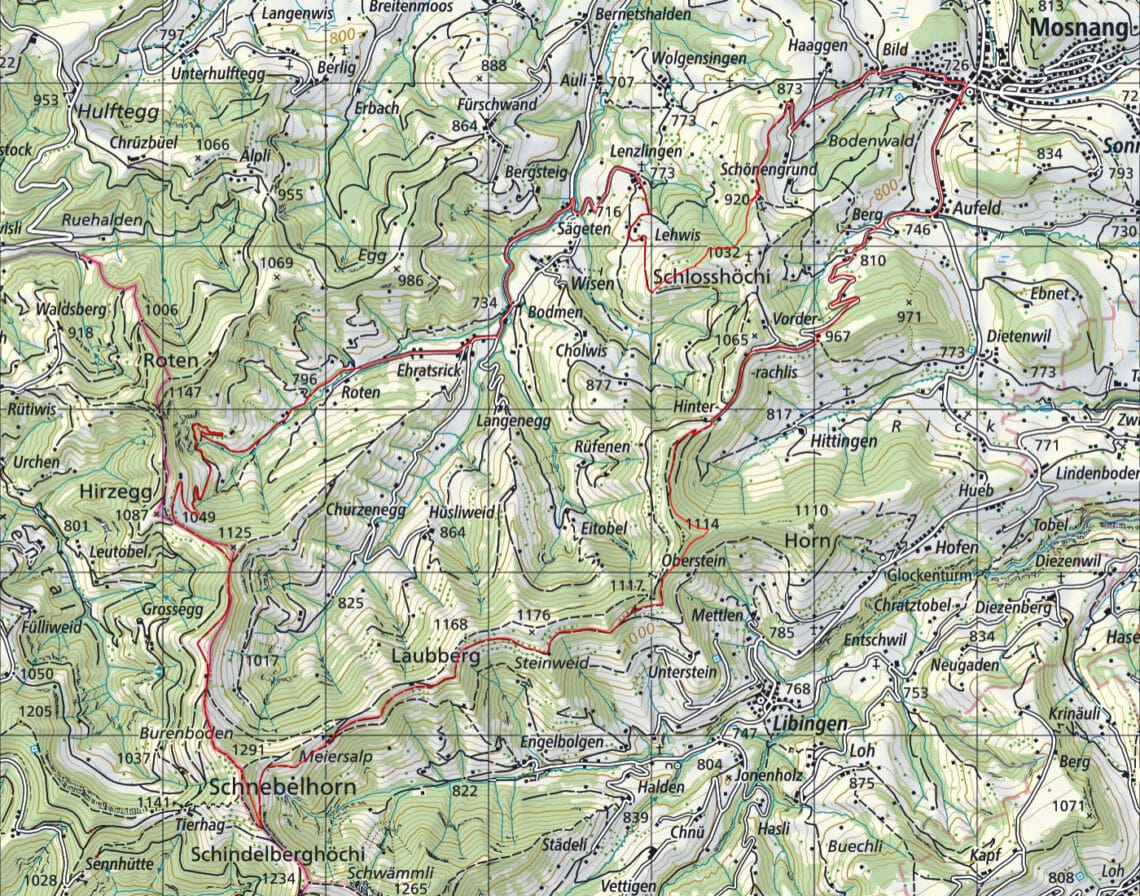 Biketour Mosnang - Schnebelhorn