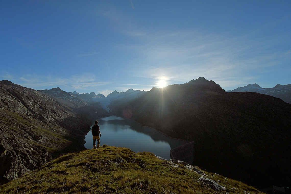 Blick über den Oberaarsee