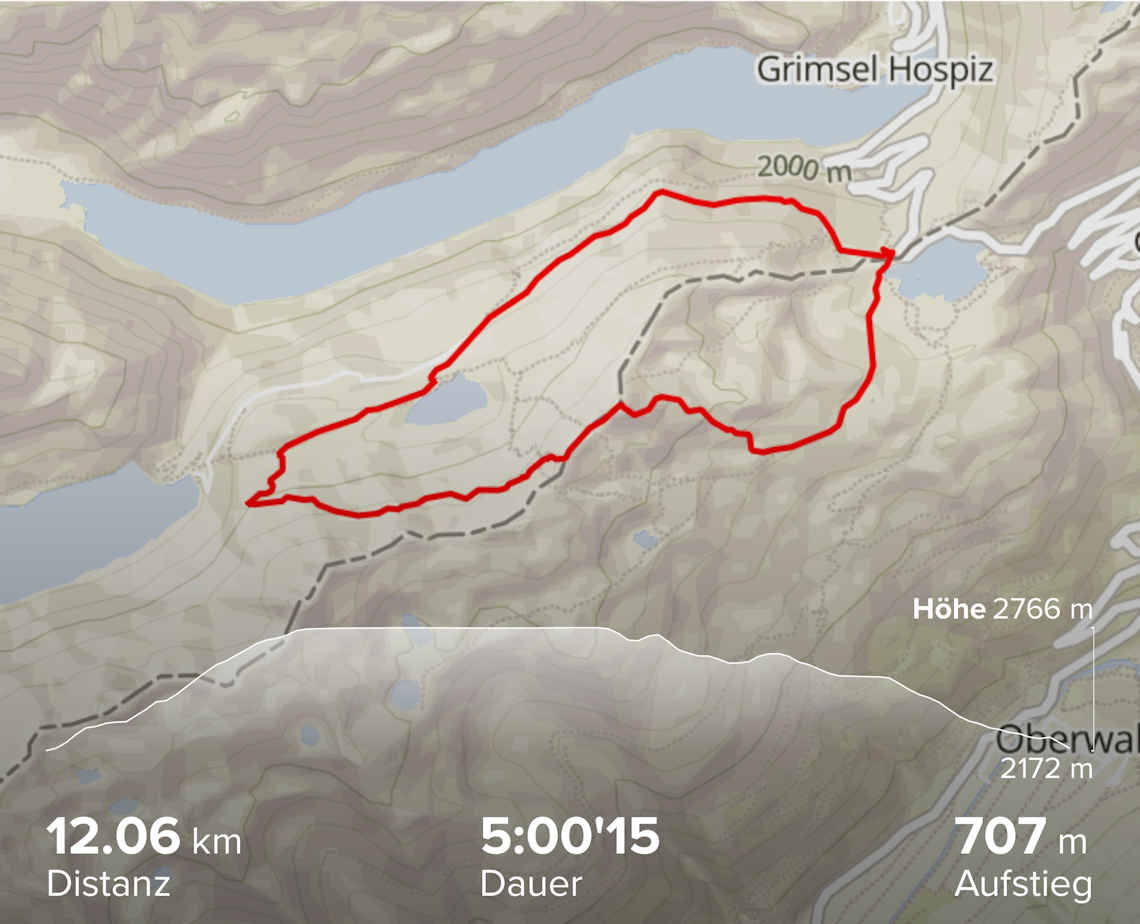 Grimselpass - Sidelhorn - Oberaar - Grimselpass (Suunto)