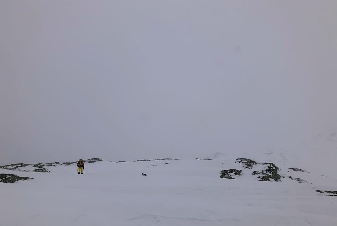 Aufkommender Nebel auf dem Grimselpass